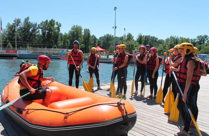 Instameet rafting en eaux vives Pau
