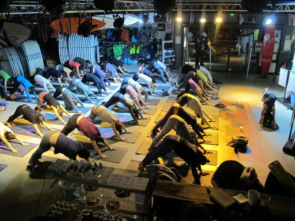 Yoga session Quiksilver Hossegor