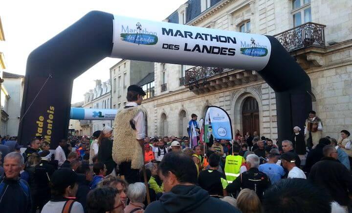RP au semi marathon des Landes