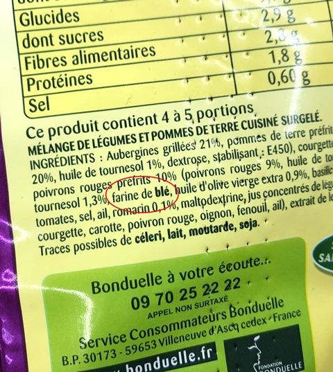 ingredients poelee bonduelle