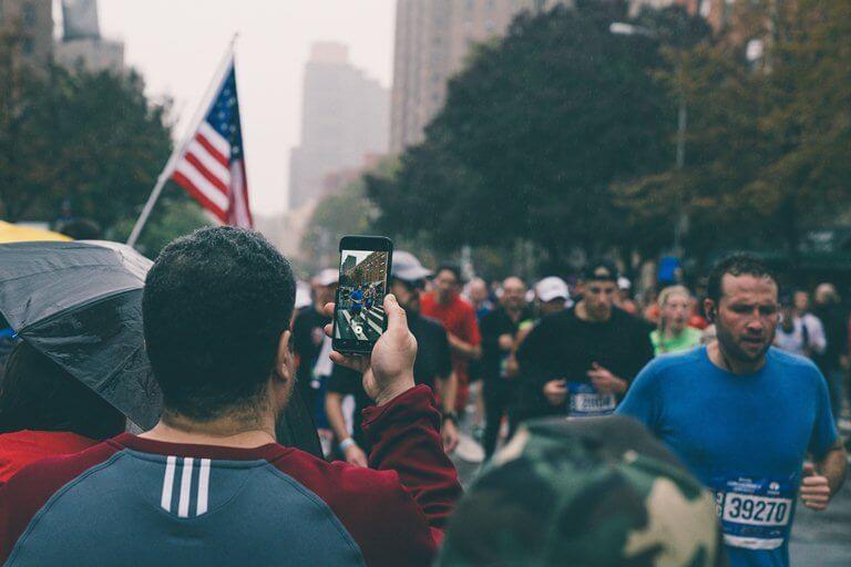 pas de rp à new-york marathon