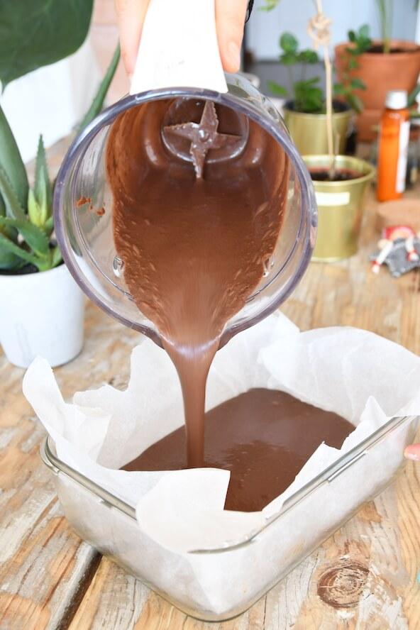 preparation brownie